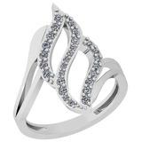0.32 Ctw VS/SI1 Diamond 14K White Gold Ring