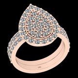 1.47 Ctw I2/I3 Diamond 10K Rose Gold Entertiy Ring