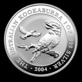 Australian Kookaburra 1 oz. Silver 2004