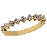 0.31 Ctw Diamond I2/I3 14K Yellow Gold Eternity Band Ring