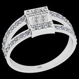 0.45 Ctw I2/I3 Diamond 10K White Gold Casino theme Ring