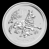 2018 Australia 2 oz Silver Lunar Dog