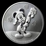 2020 Niue 1 oz Silver $2 Disney Mickey Mouse Christmas BU