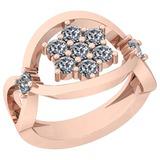 0.90 Ctw VS/SI1 Diamond Platinum 14K Rose Gold Plated Ring