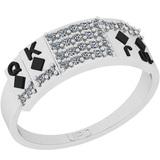 0.22 Ctw SI2/I1 Diamond 14K White Gold Ring