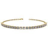 1.38 Ctw I2/I3 Diamond 10k Yellow Gold Bracelet