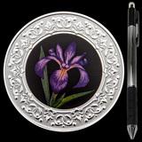 Collectible Floral Emblems - Quebec: Blue Flag Iris 2020 RCM 1/4 oz Ag