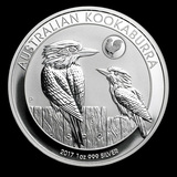 Australian Kookaburra 1 oz. Silver 2017 (Rooster Privy)