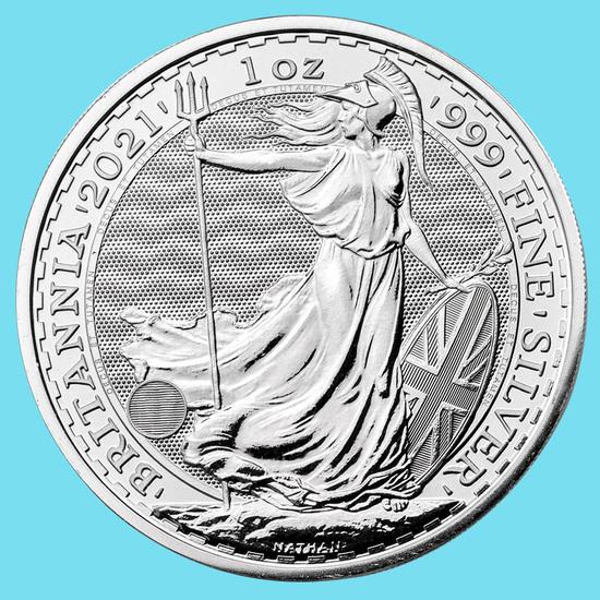 2021 Great Britain 1 oz Silver Britannia BU