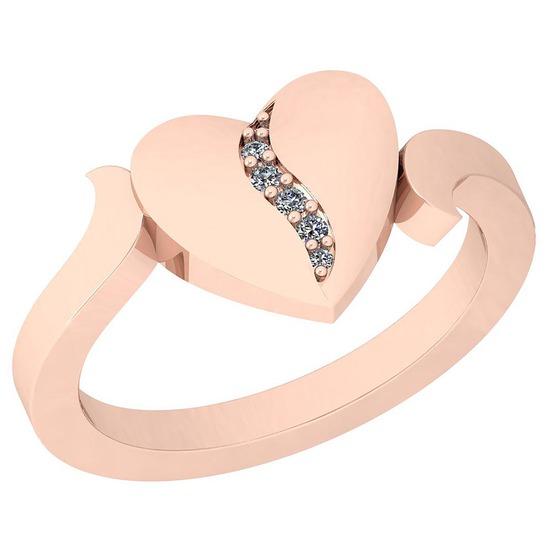0.05 Ctw VS/SI1 Diamond 14K Rose Gold Ring