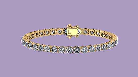 3.50 Ctw VS/SI1 Diamond Tennis Bracelet 14K Yellow Gold Gold