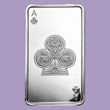 10 oz Silver Bar - Ace of Clubs
