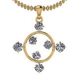 0.78 Ctw VS/SI1 Diamond 14K Yellow Gold Necklace