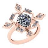 1.86 Ctw Diamond I2/I3 14K Rose Gold Vintage Style Ring