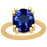 4.80 Ctw Tanzanite 14K Yellow Gold Solitaire Ring