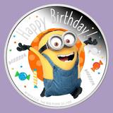 2020 Niue 1 oz Silver $2 Minion Made - Happy Birthday Proof