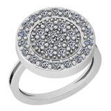 0.86 Ctw VS/SI1 Diamond 14K White Gold Ring