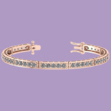 4.50 Ctw Diamond I1/I2 Prong Set 14K Rose Gold Bracelet