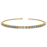 1.38 Ctw SI2/I1 Diamond 14K Yellow Gold Bracelet