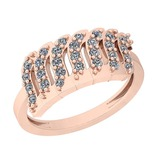 0.40 Ctw SI2/I1 Diamond Platinum 14K Rose Gold Plated Ring