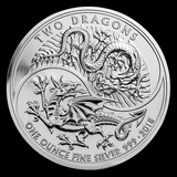 Collectible Two Dragons 2018 Great Britain 1 oz Silver