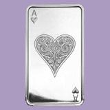 10 oz Silver Bar - Ace of Hearts
