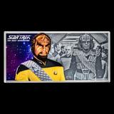 2019 Niue 5 gram Silver Note Star Trek Worf