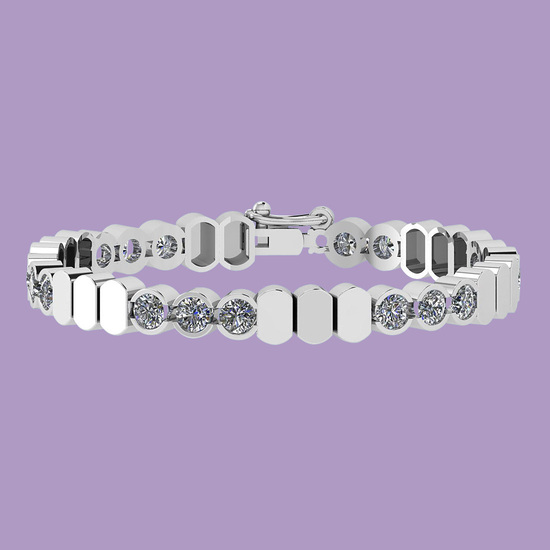 8.50 Ctw Diamond I1/I2 14K White Gold Bracelet