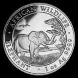 Somalia 1 oz Silver Elephant 2019