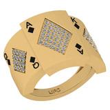 0.40 Ctw SI2/I1 Diamond 14K Yellow Gold Ring