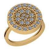 0.86 Ctw VS/SI1 Diamond 14K Yellow Gold Ring