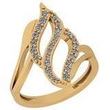 0.32 Ctw VS/SI1 Diamond 14K Yellow Gold Ring