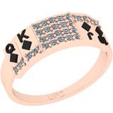 0.22 Ctw SI2/I1 Diamond 14K Rose Gold Ring
