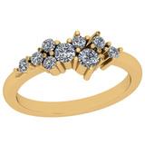 0.45 Ctw VS/SI1 Diamond 14K Yellow Gold Eternity Ring