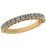 0.81 Ctw Diamond I2/I3 14K Yellow Gold Eternity Band Ring