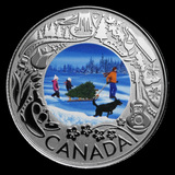 2019 RCM 1/4 oz Ag $3 Celebrating Canadian Fun: Christmas Tree