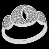 0.43 Ctw I2/I3 Diamond 10K White Gold Entertiy Ring