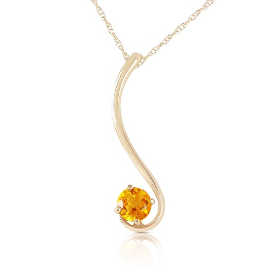 0.55 Carat 14K Solid Gold Dreaming Of You Citrine Necklace