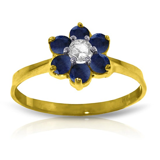 0.5 CTW 14K Solid Gold Can't Dictate Love Sapphire Diamond Ring