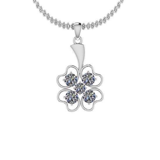 2.20 Ctw SI2/I1 Diamond Platinum Pendant