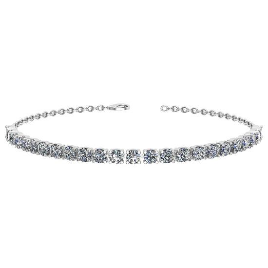 1.38 Ctw I2/I3 Diamond 10k White Gold Bracelet