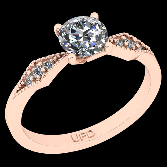 0.70 Ctw I2/I3 Diamond 10K Rose Gold Vintage Style Ring