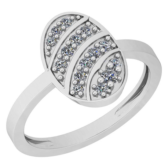 0.18 Ctw SI2/I1 Diamond Platinum Ring