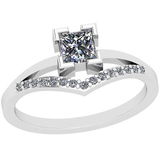 0.53 Ctw SI2/I1 Diamond Platinum Ring