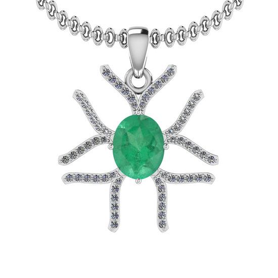 1.66 Ctw VS/SI1 Emerald And Diamond 14K White Gold