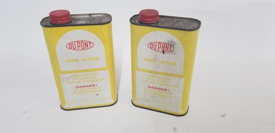 2 cans DuPont IMR-4198 Smokeless powder