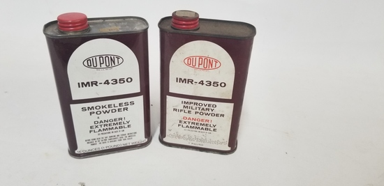 2 cans DuPont IMR-4350 Smokeless powder