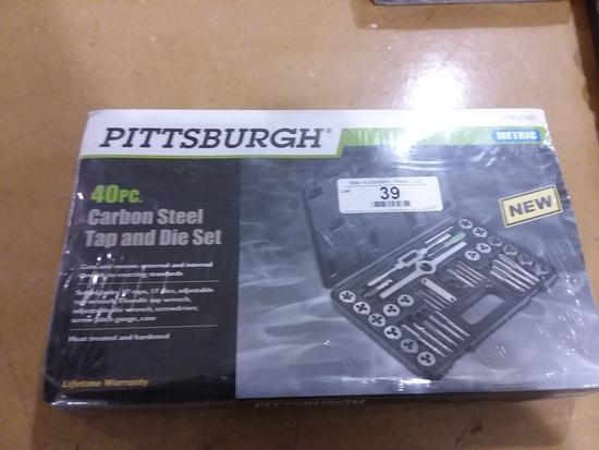 40 Pc. Carbon Steel Tap & Die Set