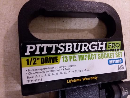 "13 Pc. Impact Socket Set 1/2"" Drive"