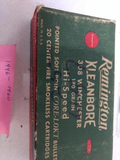 18 Live Rnds & 2 Spent Kleanbore 308win 180gr Psp